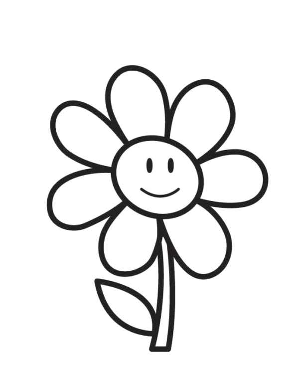 600x762 Sunflower Coloring Page