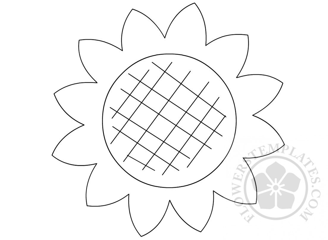 sunflower drawing template at getdrawings com free for personal