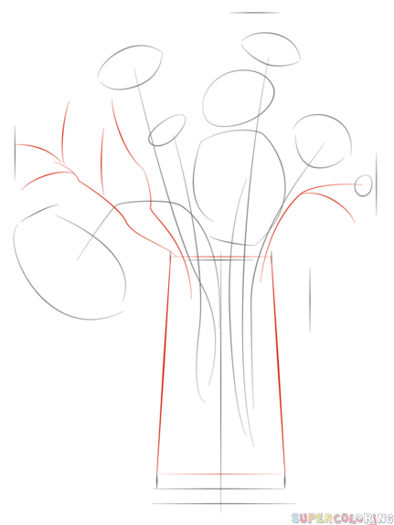 431x575 Drawn Bouquet Flower Drawing