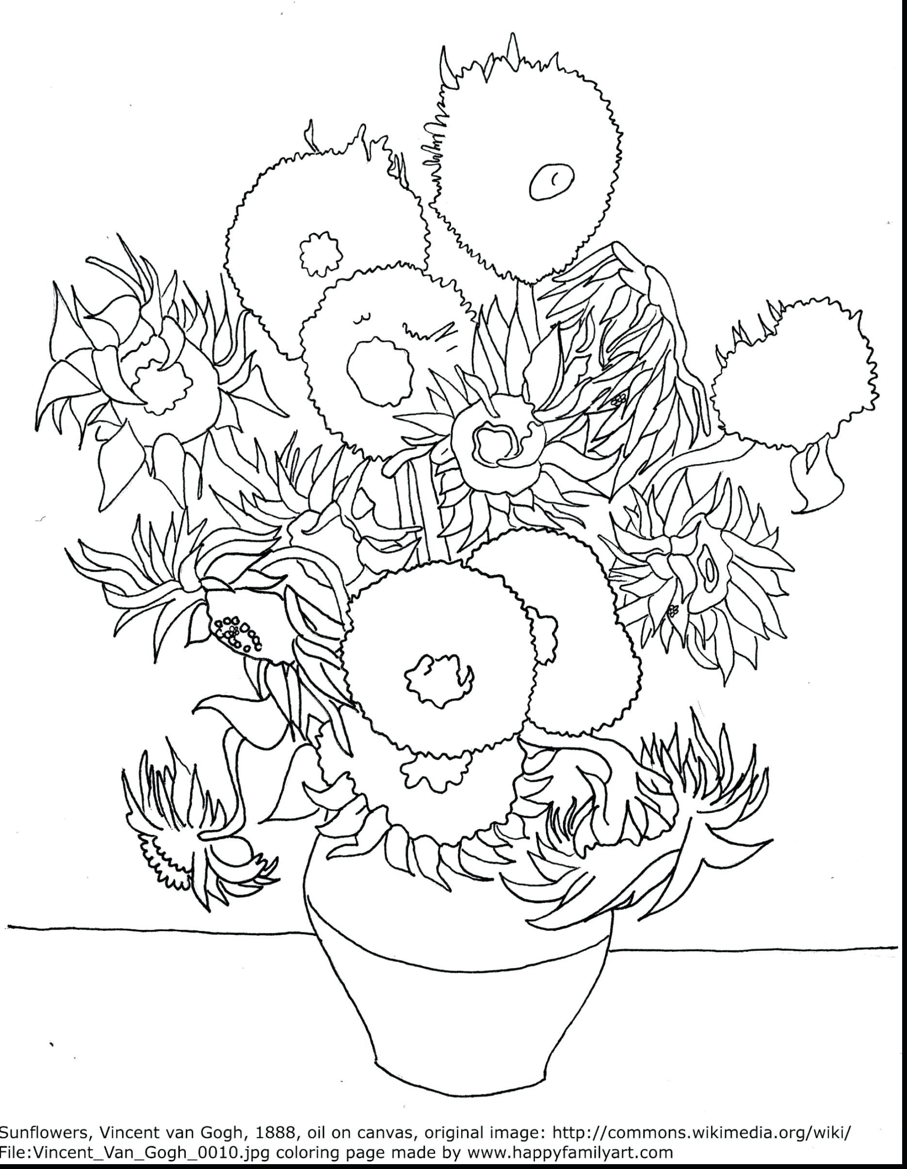 1870x2411 Sunflower Coloring Pages And Printable Pictures To Color Images