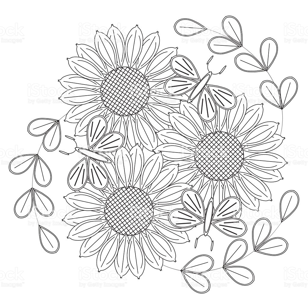 Sunflowers Drawing at GetDrawings.com | Free for personal use ...
