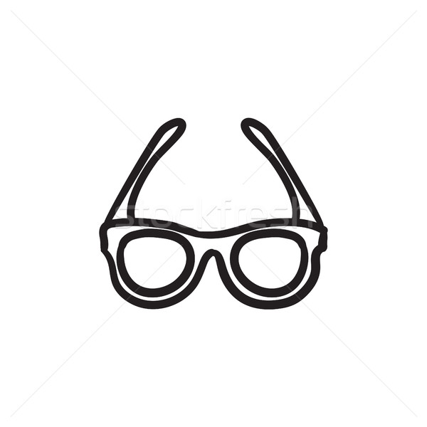 600x600 Glasses Sketch Icon. Vector Illustration Andrei Krauchuk