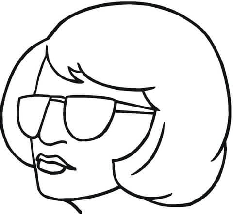 480x442 Blond In Sunglasses Coloring Page Free Printable Coloring Pages