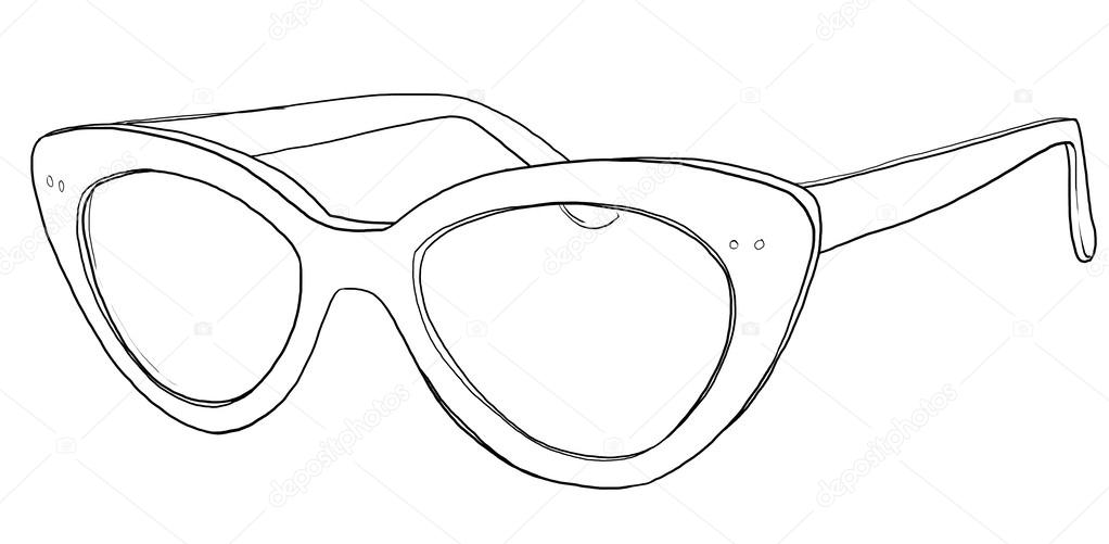 1022x501 Cat Eye Glasses Sunglasses Line Art Stock Photo Gmm2000