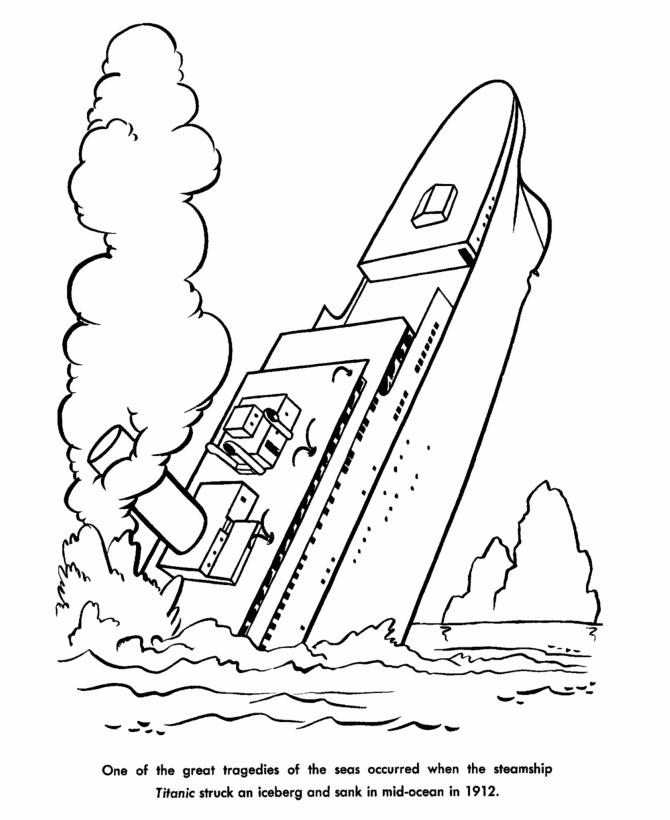 Sunken Ship Drawing