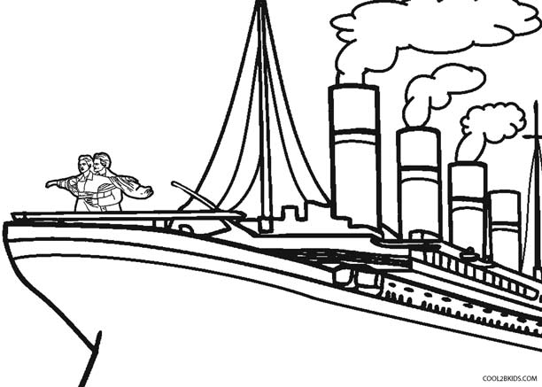612x437 Printable Titanic Coloring Pages For Kids Cool2bkids