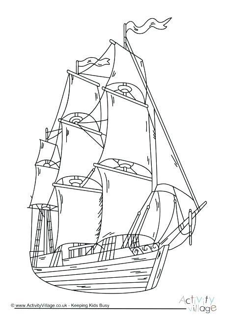 460x650 Pirate Ship Coloring Pages