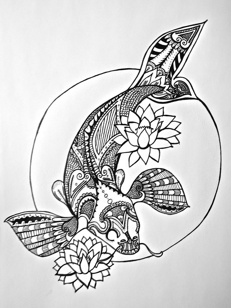774x1032 Japanese Sunrise Line Art By Rosered66