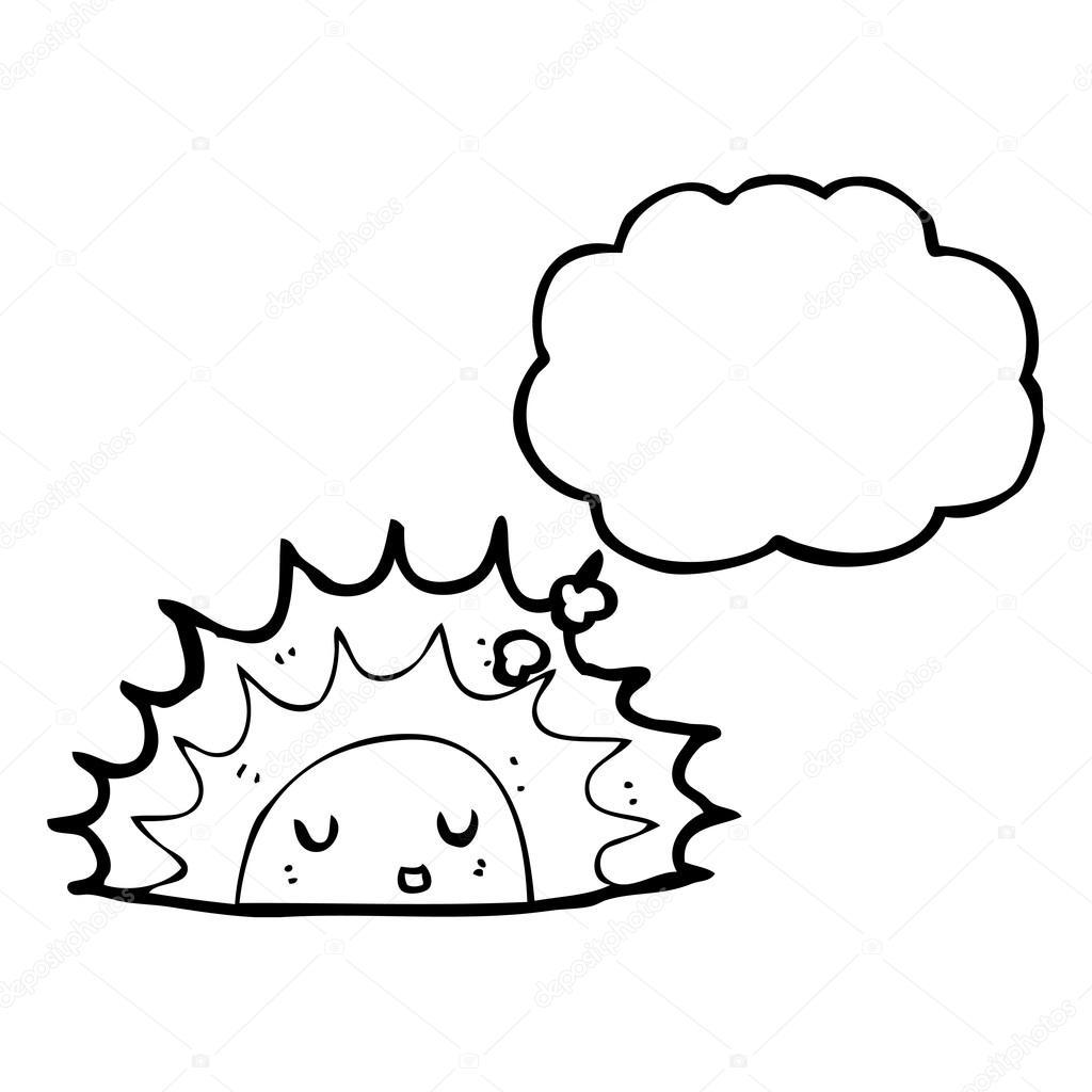 1024x1024 Sunrise Cartoon Stock Vector Lineartestpilot