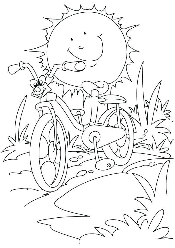 595x842 Coloring Pages Of The Sun Beach Scene Coloring Pages Printable