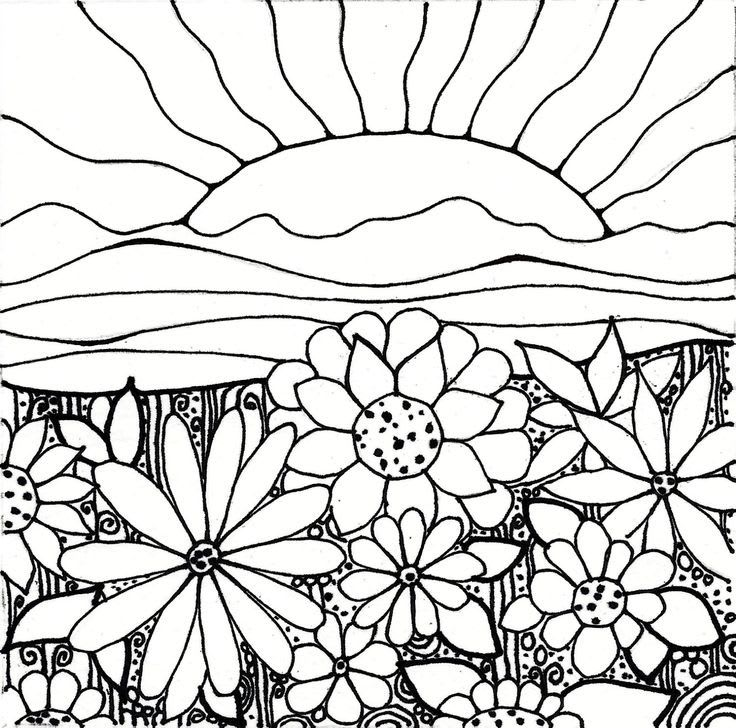 736x728 Printable Sunset Coloring Pages