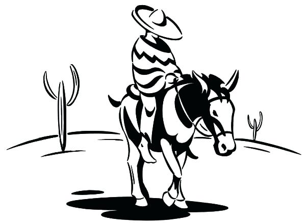 600x438 Best Sunset Coloring Pages Fee Cowboy Ride Donkey To Color Shimmer