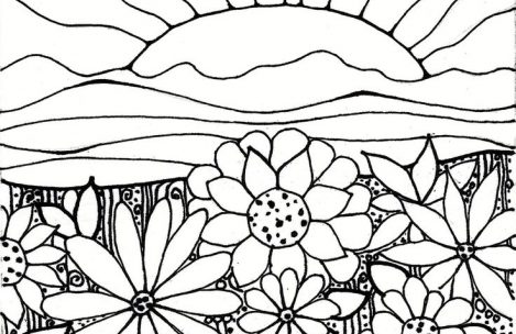 469x304 Sunset Coloring Pages Just Colorings