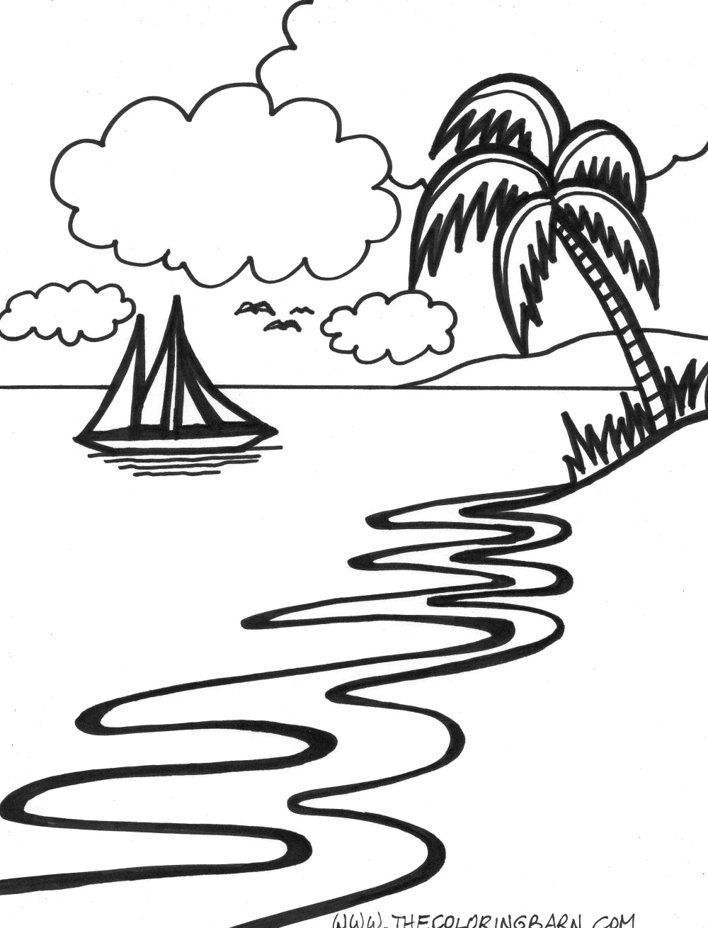 Sunset Drawing Black And White at GetDrawings | Free download