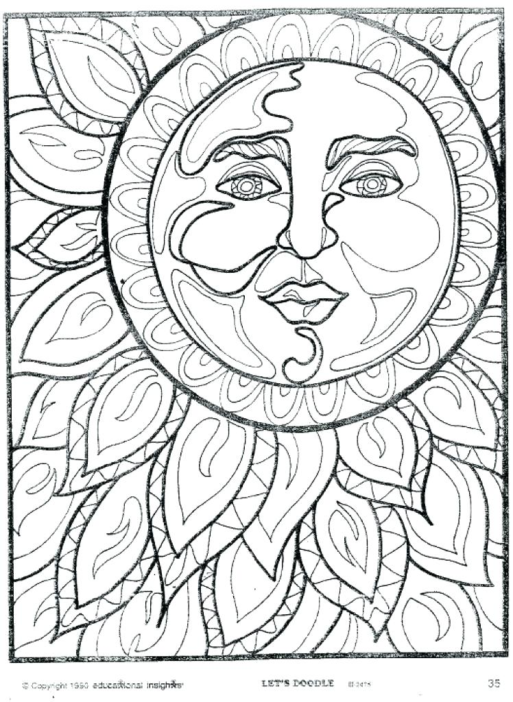 748x1024 The Sun Coloring Pages Sun Coloring Pages Hippie Coloring Pages