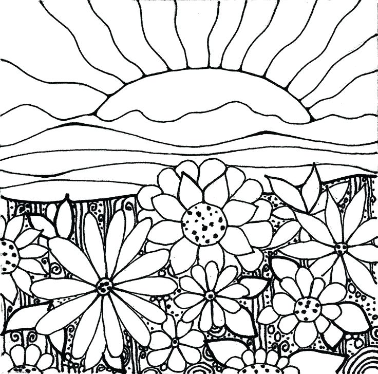 736x728 Top Rated Hippie Coloring Pages Pictures Sunset Coloring Pages
