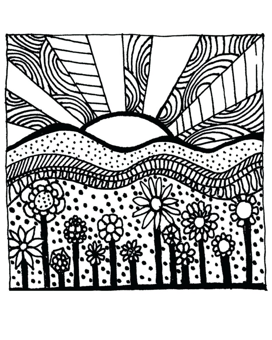 932x1165 Ocean Sunset Coloring Pages Tags Sunset Coloring Pages How