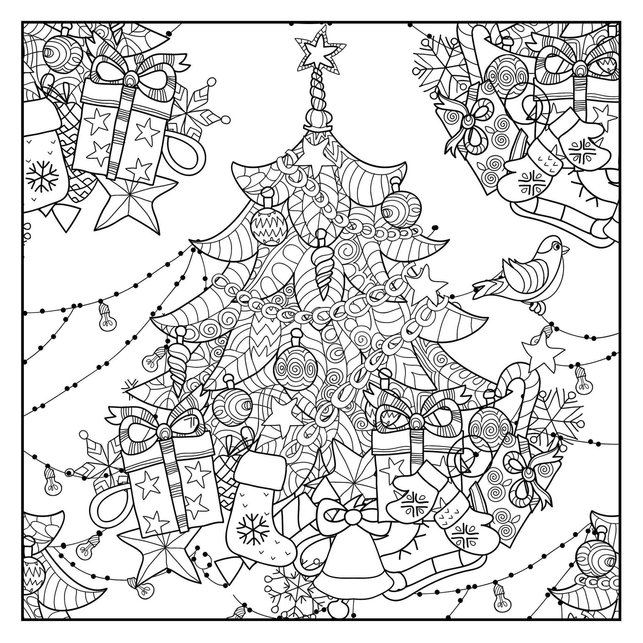 2048x2048 Tropical Sunset Coloring Pages
