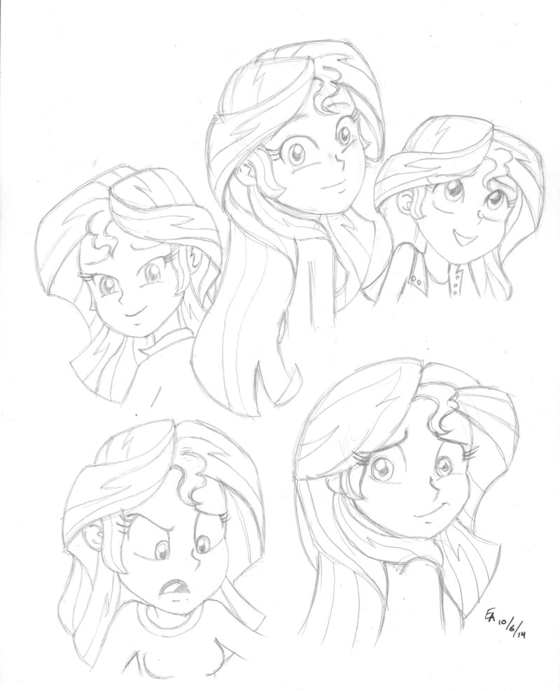 800x987 2014 Sunset Shimmer Studies By Mayorlight
