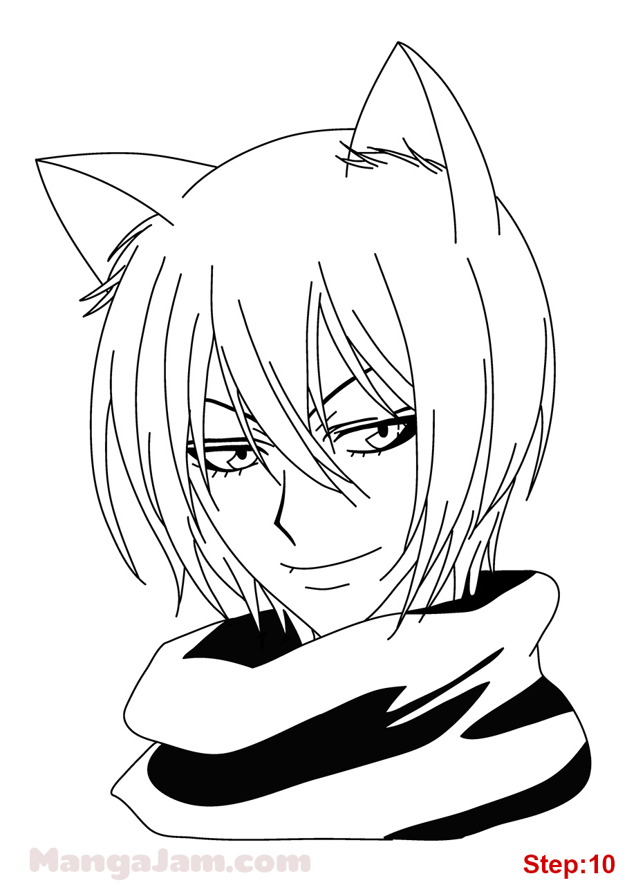 920x1280 How To Draw Tomoe From Kamisama Hajimemashita Step 10 Crafts