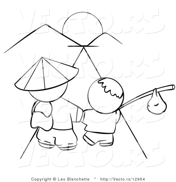 1479x1058 Tropical Beach Coloring Page Within Glum Me Picturesque Sunset 600x620 Vector Of Chinese Father And Son Walking Towards The