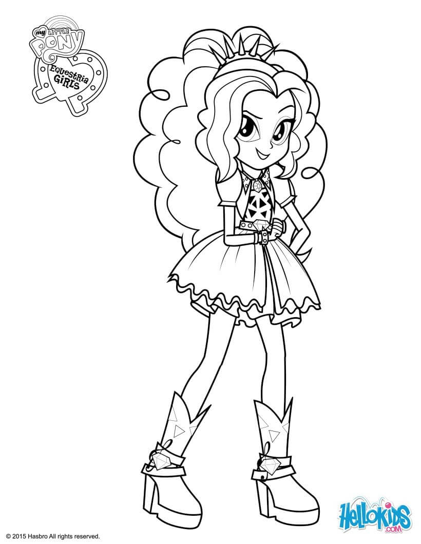 820x1060 Girls Sunset Shimmer Coloring Pages Download