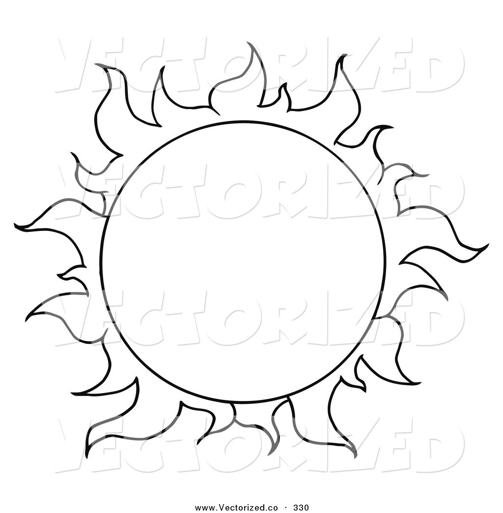 Sunset On The Beach Drawing at GetDrawings | Free download