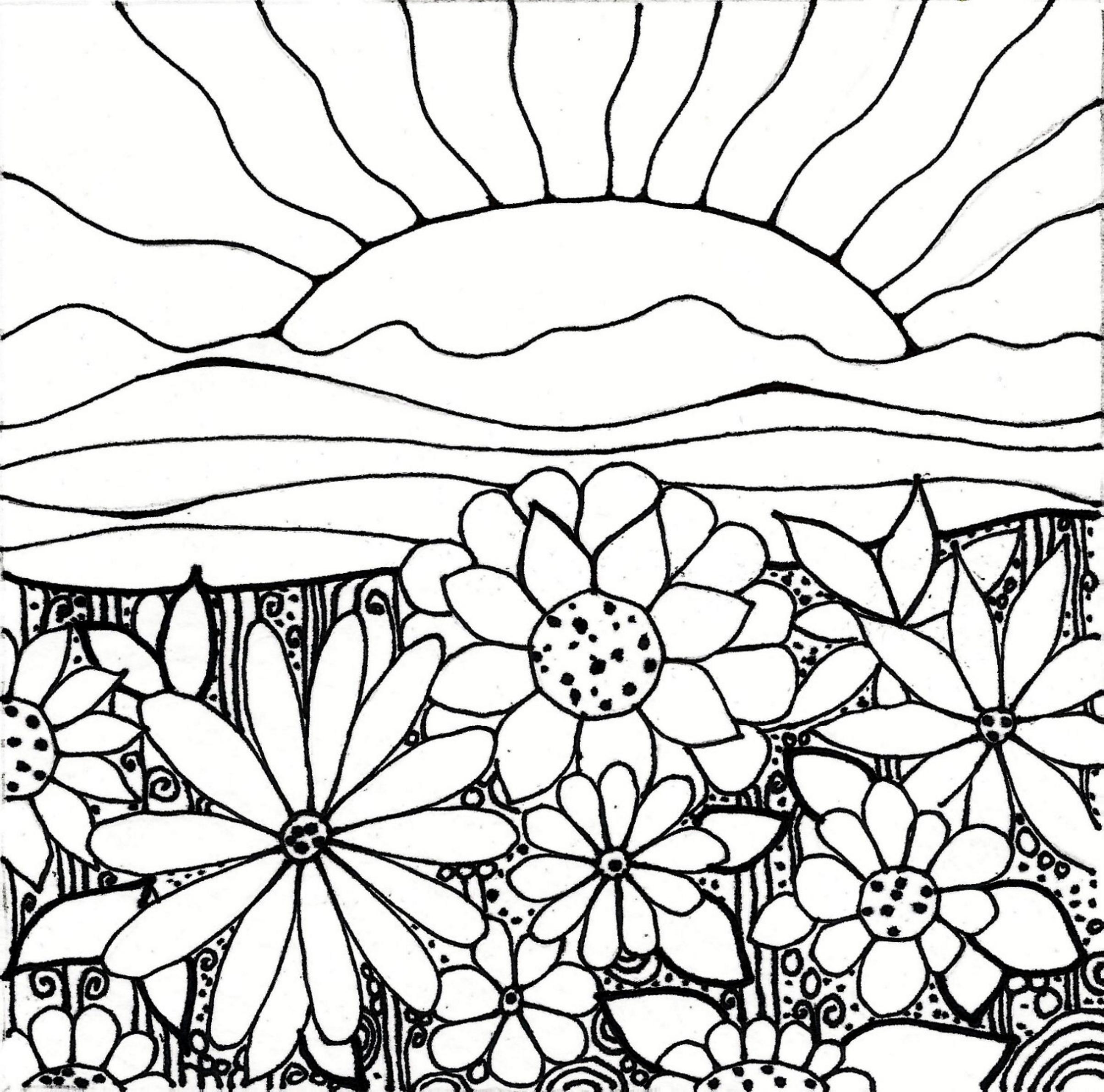 Sunset Pencil Drawing At Getdrawings