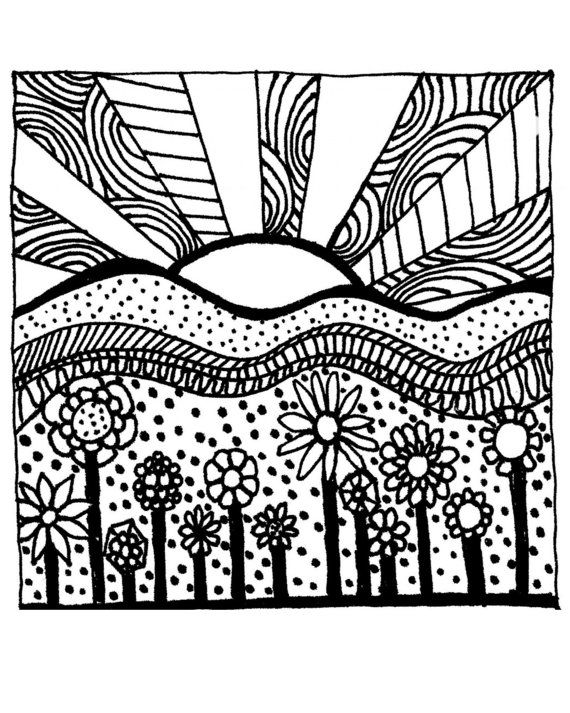 570x713 Download Printable Adult Coloring Page Digital Hand Drawn Papers