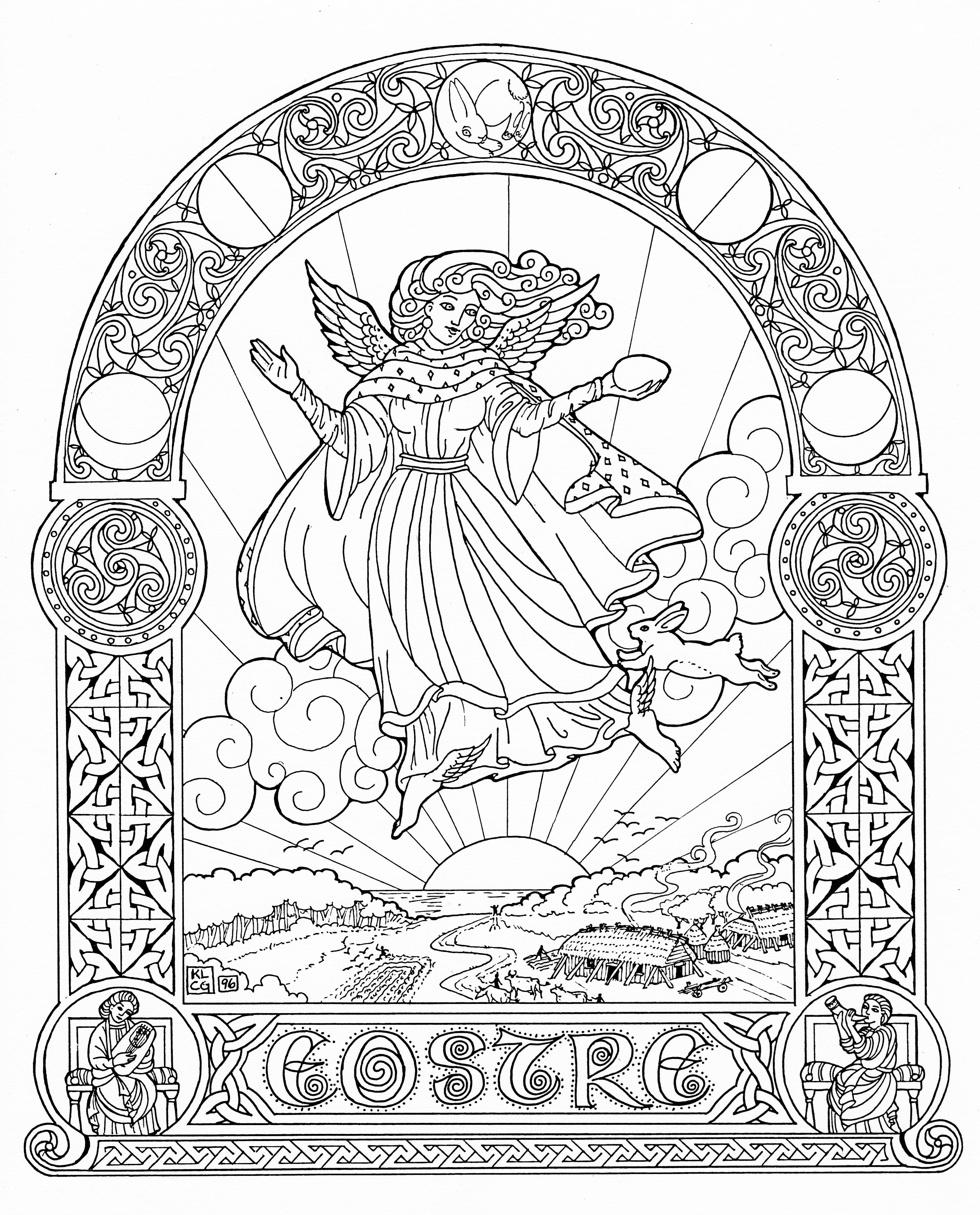 3204x3972 Embellishing And Colouring Celtic Design Karen Gillmore Art