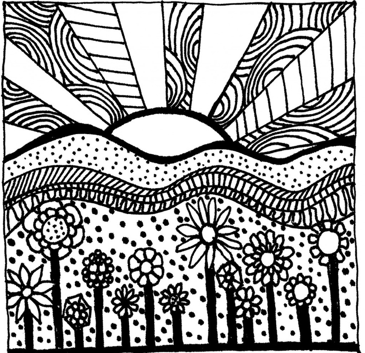 736x711 Sunset Coloring Pages To Download And Print For Free