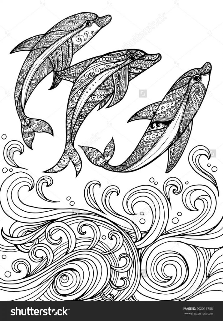 714x1024 Abstract Dolphin Coloring Pages New Abstract Dolphin Coloring