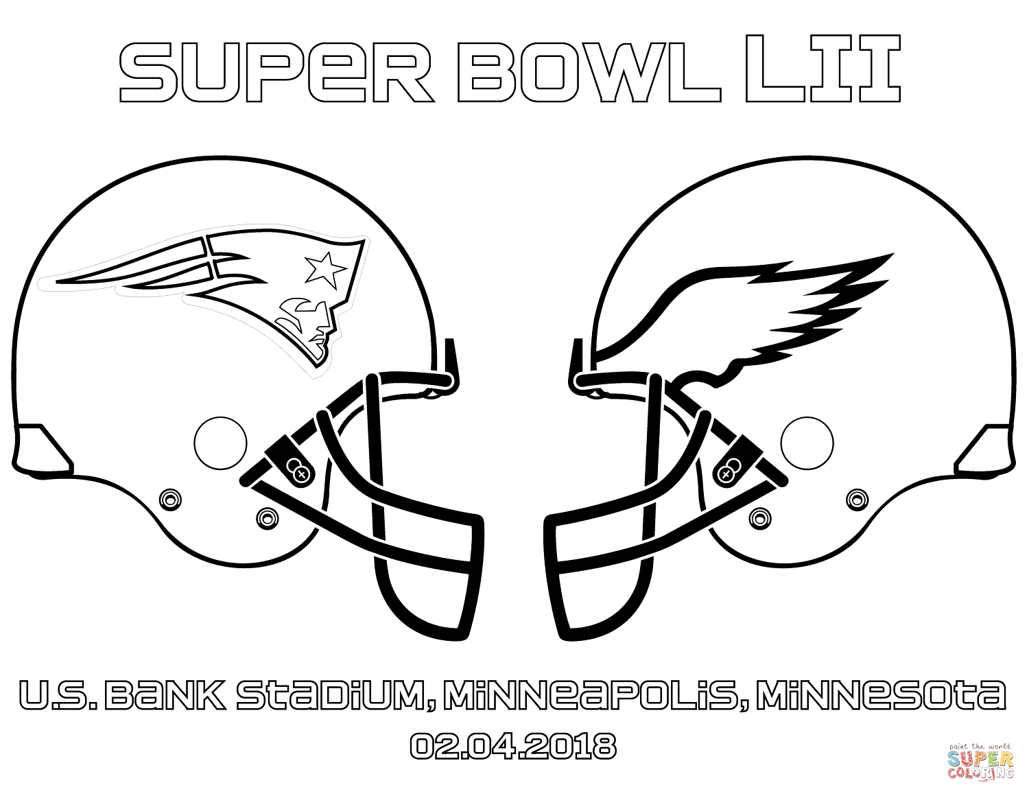 1500x1160 Super Bowl 2018 Coloring Page Free Printable Coloring Pages