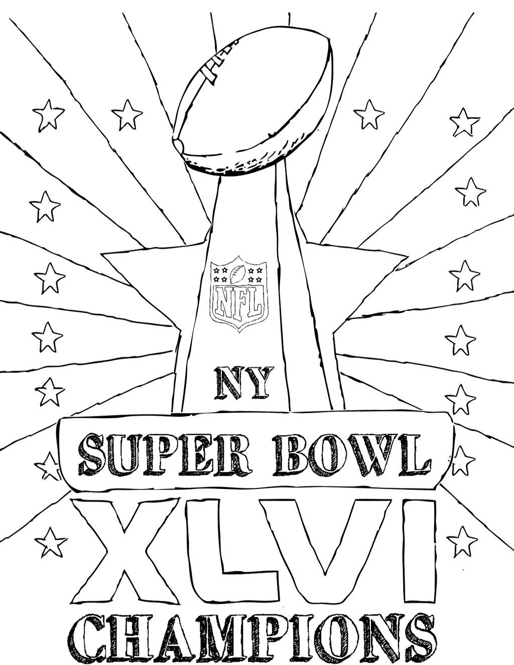 superbowl coloring pages for kids | Super Bowl Drawing at GetDrawings.com | Free for personal ...