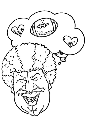 342x480 Super Bowl Sunday Coloring Page Free Printable Coloring Pages