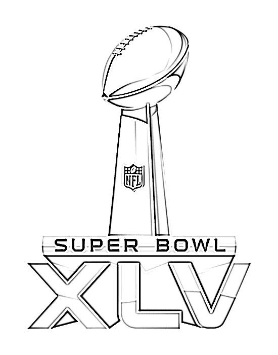 550x700 Super Bowl Xlv Logo Sketch