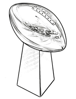 270x350 Trophy Super Bowl Coloring Page Kids Coloring Pages