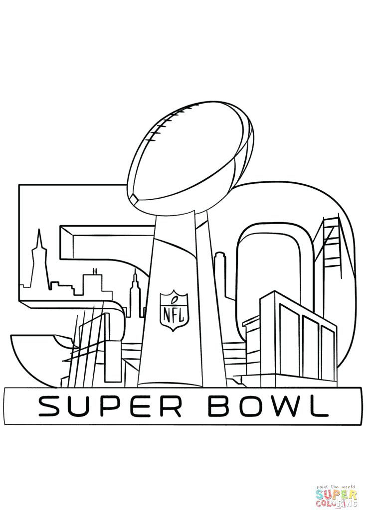736x1040 Useful Super Bowl Coloring Pages Trophy