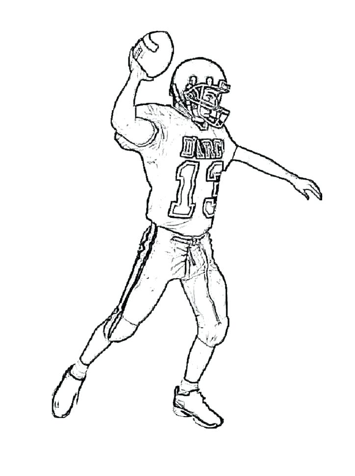 724x970 Best Super Bowl Coloring Pages Print Preparing To Throw Ball Event