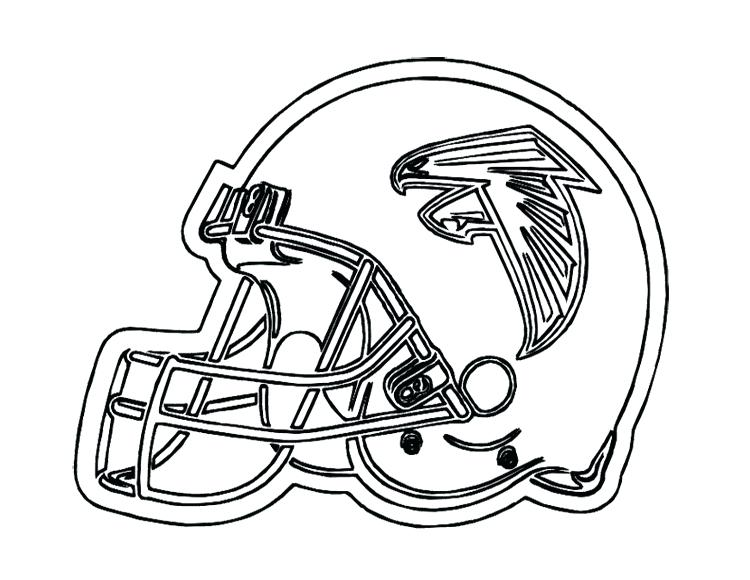 750x580 Best Superbowl Coloring Pages Print Football Helmet Falcons Page