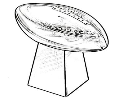 400x322 Vince Lombardi Trophy Coloring Page Most Lombardi Trophies