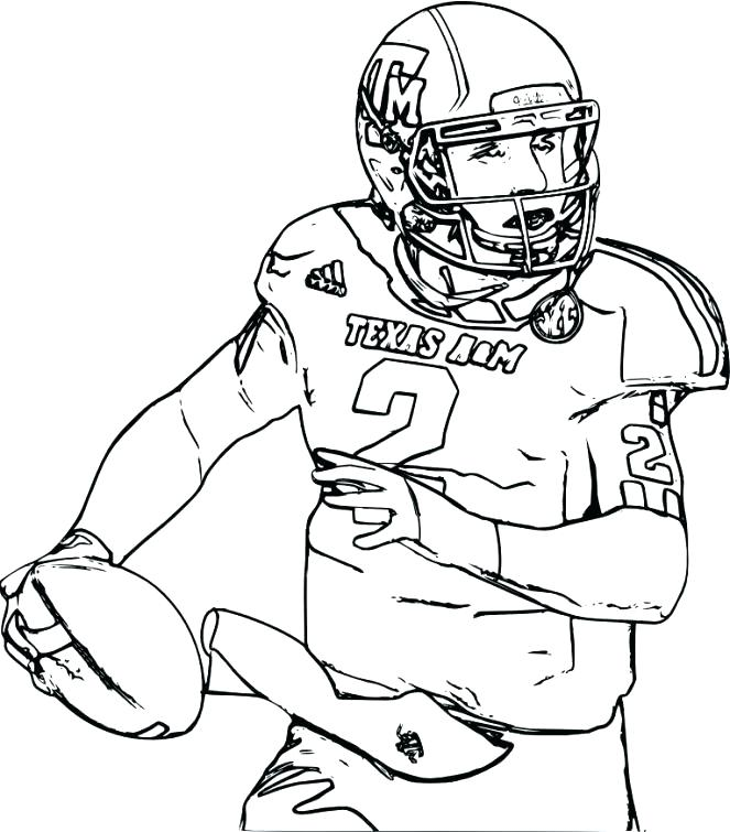 663x755 Nfl Pages A Colorier Coloring Book Football Player Coloring Book