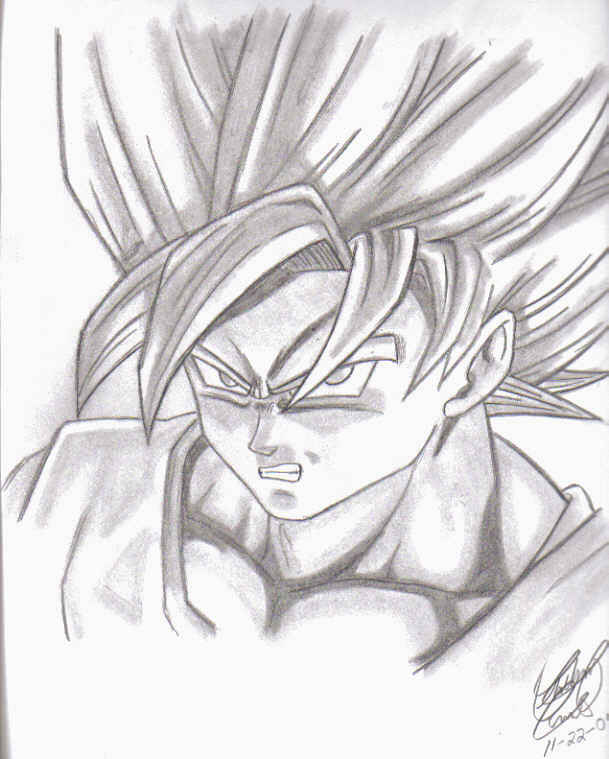 609x759 Super Saiyan Goku By Elitedragongoku