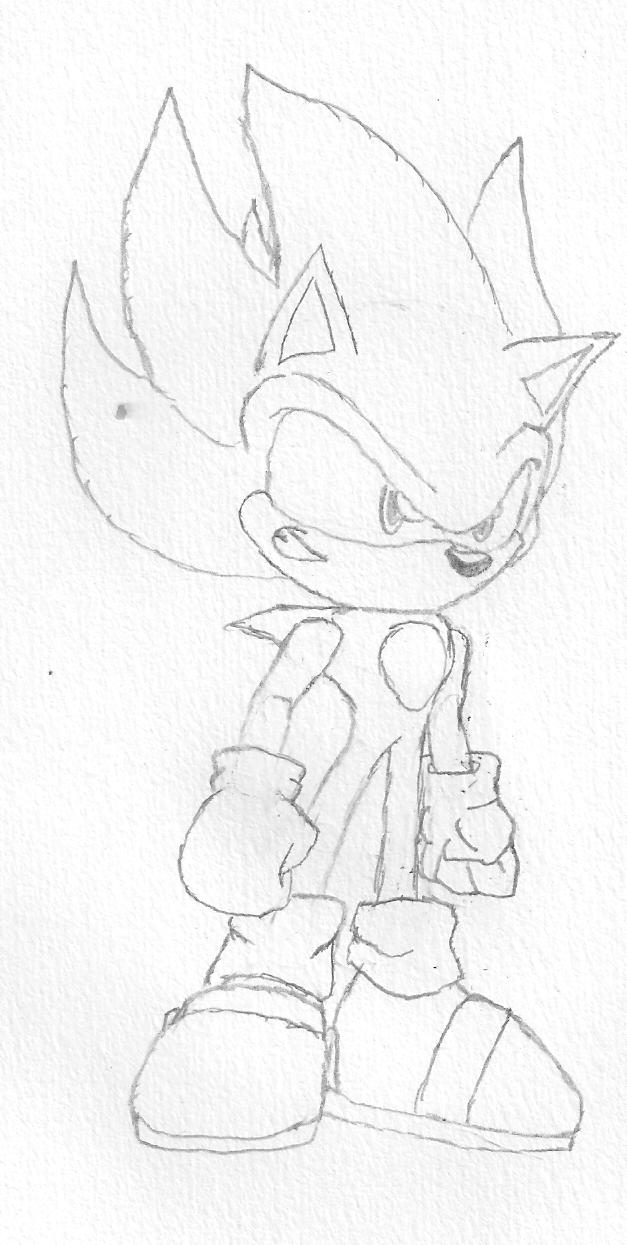 627x1245 Super Sonic Sketch By Raketth