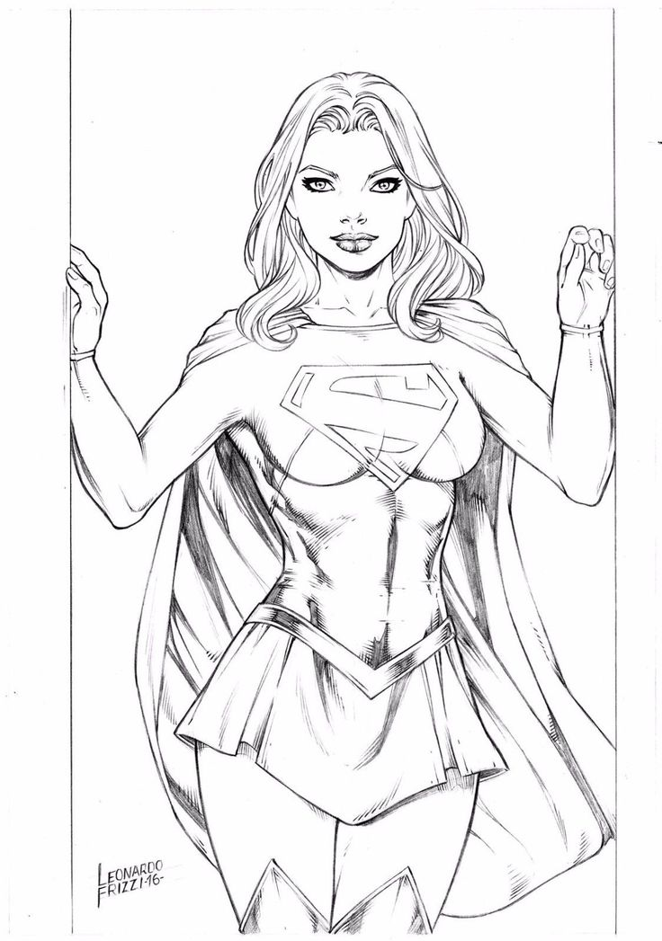 Super Girl Drawing
