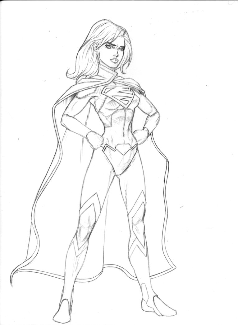 766x1043 New 52 Supergirl By The Penciler