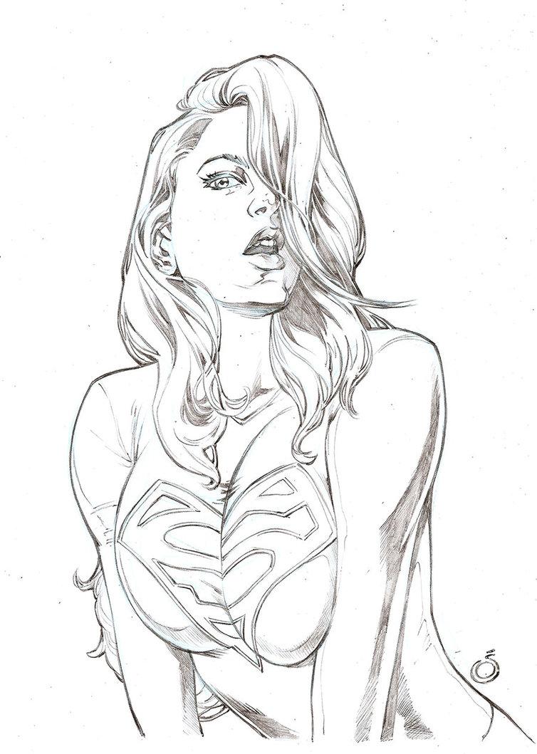 754x1059 Sexy Supergirl By Uzomistudio