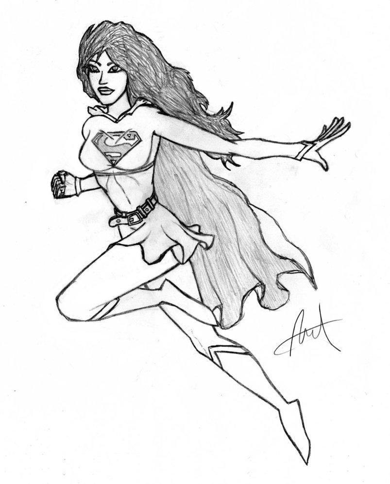 803x995 Supergirl! By Waterwizz