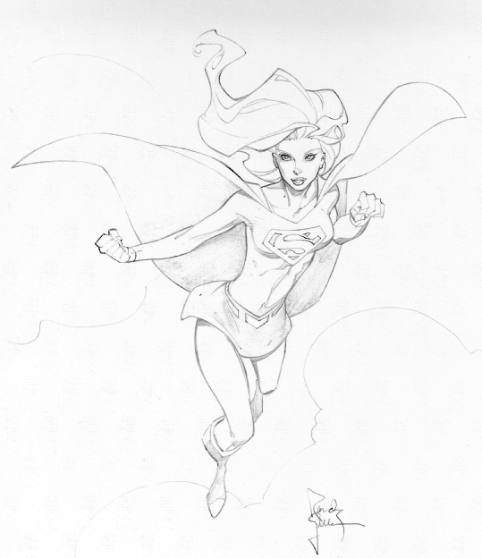 539x624 Supergirl Con Sketch By Randygreen On Sketch