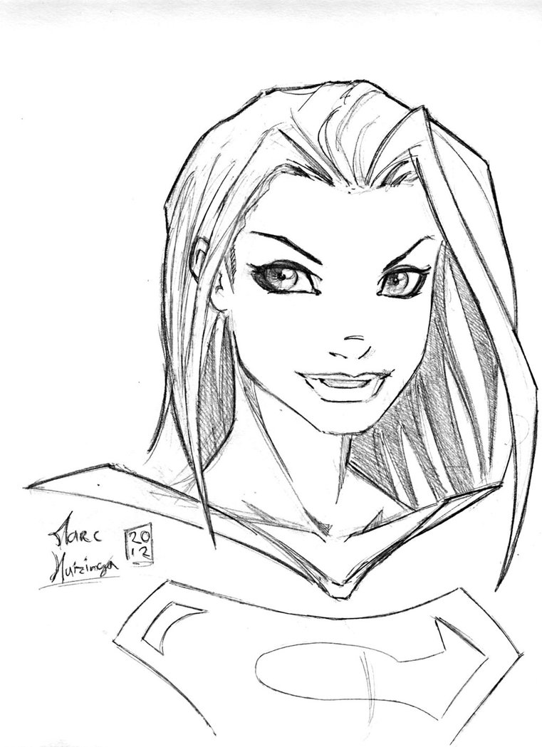 761x1049 Supergirl Warmup By Marc F Huizinga